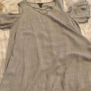 Dresses & Skirts - Gray, cold shoulder dress